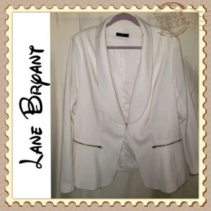 Lane Bryant White Blazer